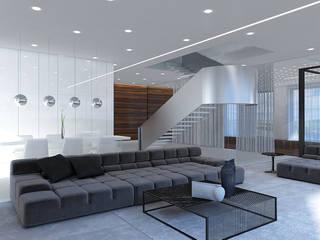 Гостиная: Гостиная в . Автор – background архитектурная студия