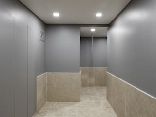 Modern Corridor, Hallway and Staircase by NVE engenharias, S.A. Modern