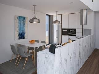 Modern style kitchen by Esboçosigma, Lda Modern