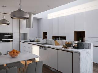 Esboçosigma, Lda ห้องครัว แผ่น MDF White