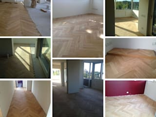 Soloparquet Srl Classic style living room Solid Wood Beige