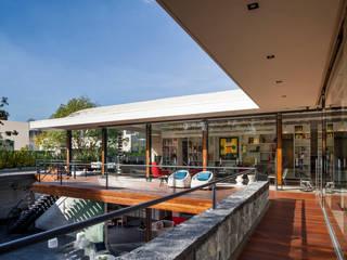 Terraza Biblioteca: Casas de estilo  por Eduardo Gutiérrez Taller de Arquitectura