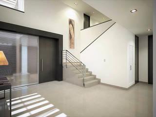 Casa RA Pasillos, vestíbulos y escaleras modernos de Víctor Díaz Arquitectos Moderno