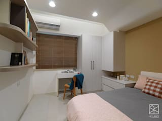 台北 - 中和:  臥室 by 禾廊室內設計