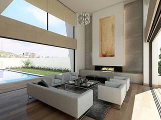 Casa JC Salones modernos de Víctor Díaz Arquitectos Moderno