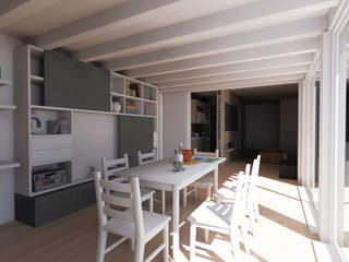 Rendering 3D soggiorno: Soggiorno in stile in stile Moderno di Edilizia Software