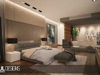 elegant & chic bedroom Modern Bedroom by Soul Designs Modern