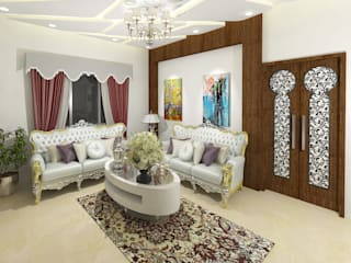 Living room by Gurooji Designs, Asian