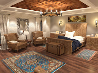 Rustic style bedroom by Quattro designs Rustic