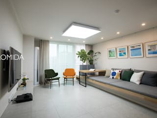 즐거운 우리의 집_서초현대아파트 인테리어: (주)바오미다의  거실