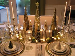 Decoración para tu mesa en Navidad: Comedores de estilo  por MIRIAM ESCOBEDO INTERIORISTA