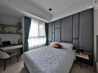 次臥B:  臥室 by 禾廊室內設計