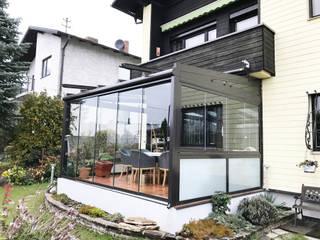 Glasoase - Sommergarten mit Glasschiebetüren Schmidinger Wintergärten, Fenster & Verglasungen Klassischer Wintergarten Glas Grau