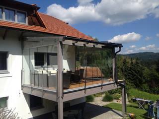 Sommergarten Glas auf Terrasse montiert Schmidinger Wintergärten, Fenster & Verglasungen Moderner Wintergarten Glas Grau