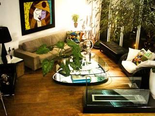 Residencia Alves STUDIO AGUIAR E DINIS Modern living room