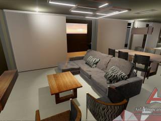 Aida tropeano& Asociados Modern living room Beige