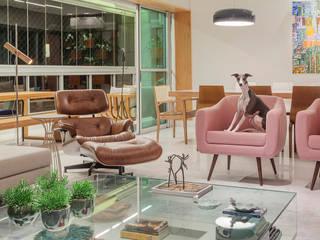 APARTAMENTO S I R: Salas de estar  por DUBAL ARQUITETURA,Moderno
