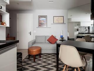 Apartamento Vila Nova Conceição, SP.: Salas de estar  por Decoradoria