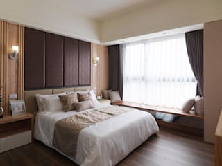 Chambre asiatique par 珍品空間設計 | JP SPACE DESIGN STUDIO Asiatique