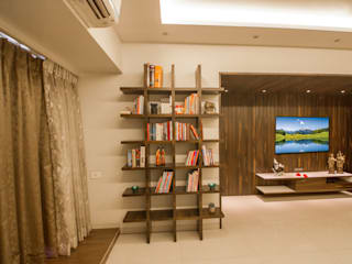 A Design Studio Living room Plywood Beige