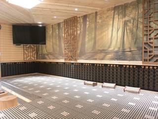 萩野空間設計 Espaços comerciais asiáticos Azulejo