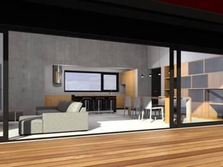 NOWOCZESNA STODOŁA : styl , w kategorii Dom jednorodzinny zaprojektowany przez ŁUKASZ ŁADZIŃSKI ARCHITEKT