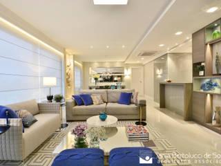 Residência Quintino Bocaiúva - Área Social Tania Bertolucci de Souza | Arquitetos Associados Salas de estar modernas
