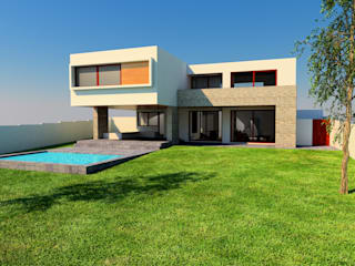 MJO ArqDesign 一戸建て住宅 レンガ 白色