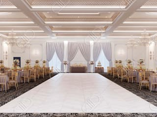 Royal Venetian Banquet Hall:  Living room by Design Studio AiD