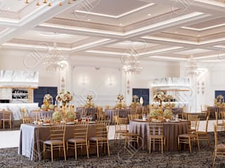 Royal Venetian Banquet Hall Classic style conservatory by Design Studio AiD Classic