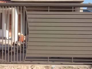Portão Basculante Residencial Dartora Esquadrias Metálicas Portas Ferro/Aço Cinza