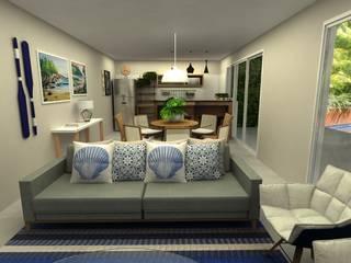 Tropical style dining room by COB Arquitetura e Design Tropical