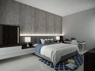 Simple Bedroom Chromatic Interior Kamar Tidur Modern Kayu Lapis