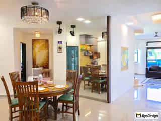 Mandarin Gardens Condo:  Dining room by AgcDesign,Modern