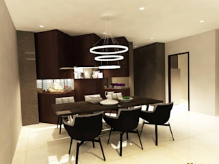 Sea Horizon Condo:  Dining room by AgcDesign,Modern