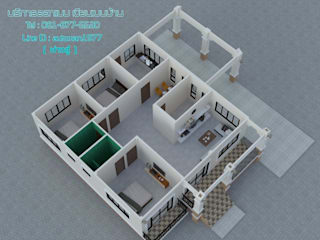 ผลงาน โดย แบบบ้านสวย ราคาประหยัด บริการออกแบบเขียนแบบ
