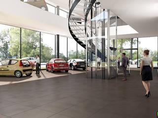 CONCESSIONARIA AUTOMOBILI - Svizzera di KRISZTINA HAROSI - ARCHITECTURAL RENDERING