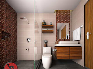 3-Bedroom Interior Design: modern Bathroom by Garra + Punzal Architects