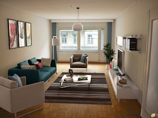 VIRTUAL HOME STAGING SOGGIORNO1 di KRISZTINA HAROSI - ARCHITECTURAL RENDERING