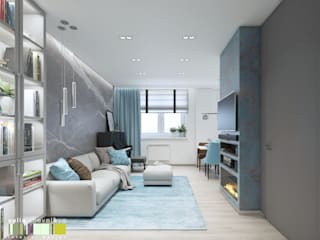 Eclectic style living room by Мастерская интерьера Юлии Шевелевой Eclectic