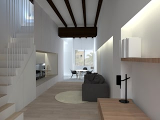 Vivienda AM Salones de estilo minimalista de atelier512 Minimalista