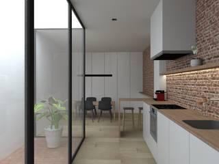 Vivienda AM Cocinas de estilo minimalista de atelier512 Minimalista