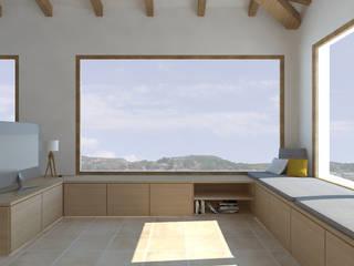 Vivienda L Estudios y despachos de estilo mediterráneo de atelier512 Mediterráneo