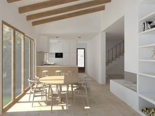 Vivienda L Cocinas de estilo mediterráneo de atelier512 Mediterráneo