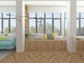 Apartamentos PSD Salones de estilo escandinavo de atelier512 Escandinavo