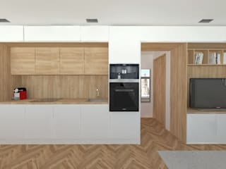 Apartamentos PSD: Cocinas de estilo  de atelier512