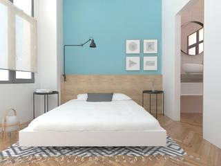 Apartamentos PSD Dormitorios de estilo escandinavo de atelier512 Escandinavo