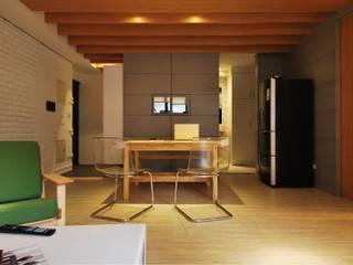 【住宅設計】淡水伊東市 – 26坪美式Loft風格:  餐廳 by 大觀創境空間設計事務所,