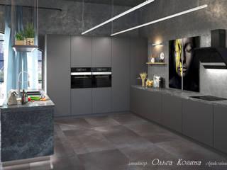Лофт пространство - кухня с техникой Гаренье: Кухни в . Автор – Ольга Козина -  дизайнер интерьера