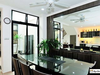 Terrace @ Saraca Place Modern dining room by AgcDesign Modern